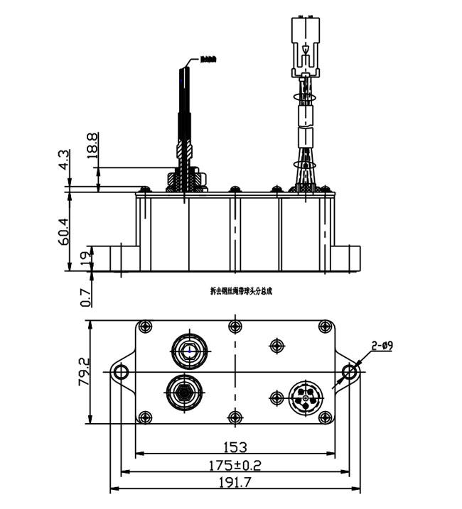 卡特挖掘机320油门电机(双线)